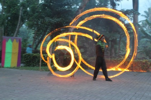 Fire Dance Show in Davao
