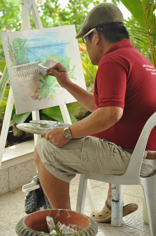 Painter in Antulang Beach Resort
