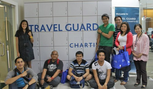 Travel Bloggers at Chartis Hearquarters