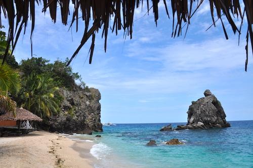 beach resorts in apo island