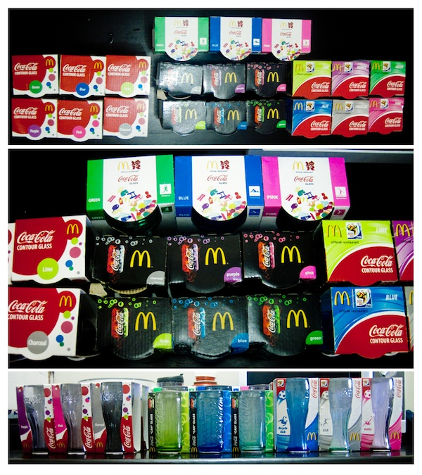 Coke Glasses Collection by Kaiz Galang