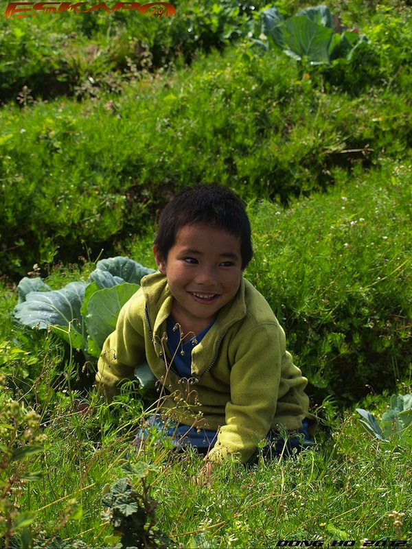 Kid in Mt Timbak in Kabayan Benguet