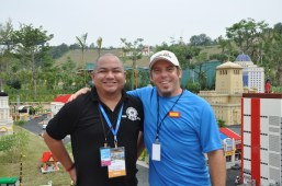 Melo Villareal with Miniland's Mayor Patrick Demaria