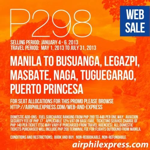 AirphilExpress 298 Pesos Express Sale