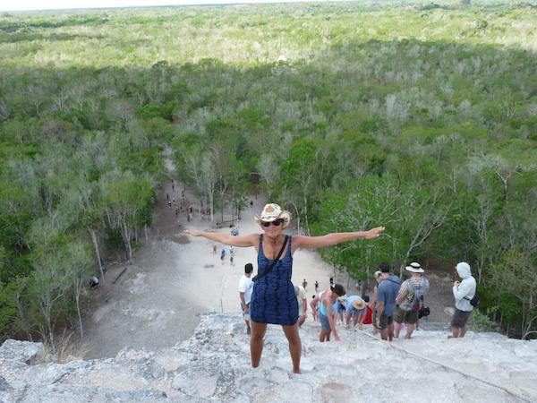 Alex in Coba Ruins Mexico
