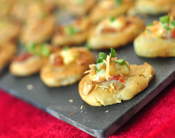 Bacon Cookies with Tartar Toppings by Myra