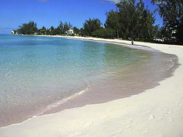 Beach near Bridgetown in Barbados
