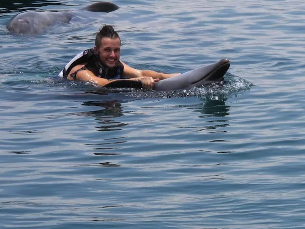 Dolphin ride at Ocean Adventure in Olongapo, Philippines