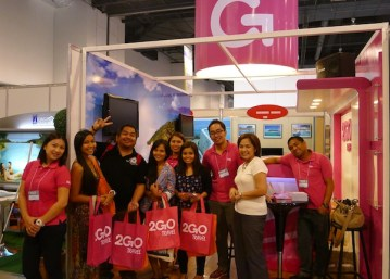 Travel Bloggers at 2Go Booth