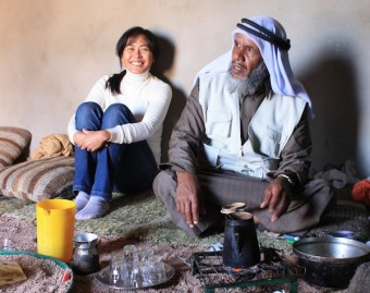 With Hakim Ahmed, a Bedouin herbal doctor from the mountains of Saint Katherine Protectorate, South Sinai (October 2010)