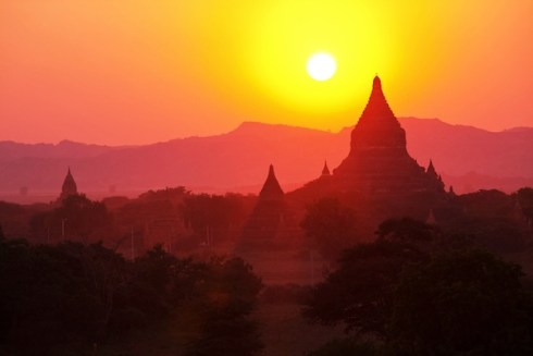 Beautiful Sunset in Bagan