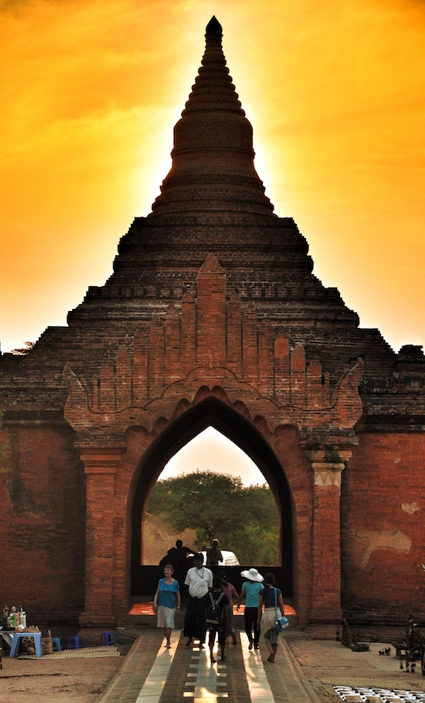 Famous Dusty Sunset of Bagan