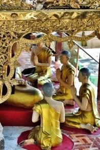 Monk Statues in Mt Popa