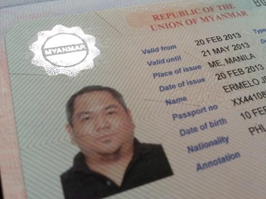 Myanmar Visa Approved