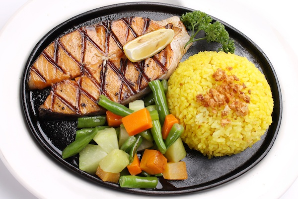 Stay fit and trim without breaking your budget with Holy Cow's Captain Grilled Salmon.
