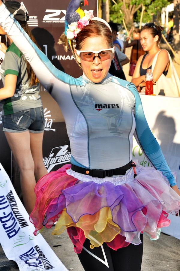 Tessa Prieto at the Finish Line