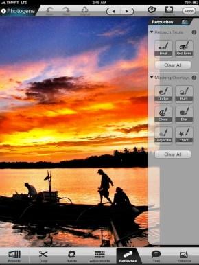 Editing photos using Photogene App