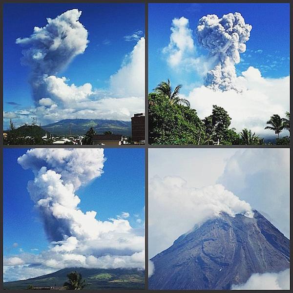 Mount Mayon Volcano Ash Explosion