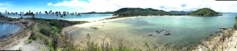 Panoramic View of the Twin Beach