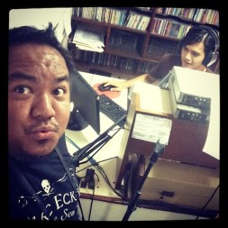 Selfie while being interviewed live at Love Radio Lucena