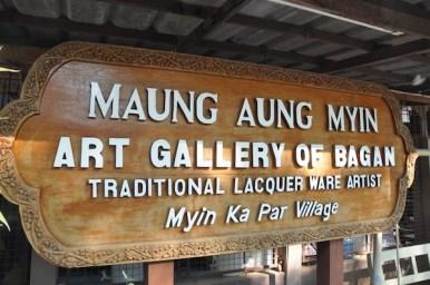 Lacquerware Gallery in Old Bagan