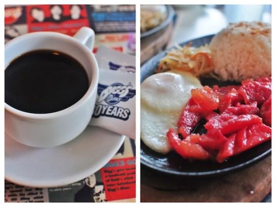 Biggs Tosilog and Brewed Coffee