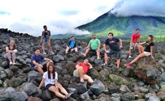 Group Photo at the Mayon Lava Front