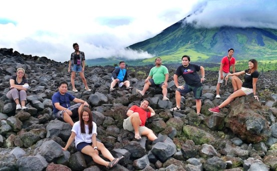 Group Photo at the Mayon Lava Front