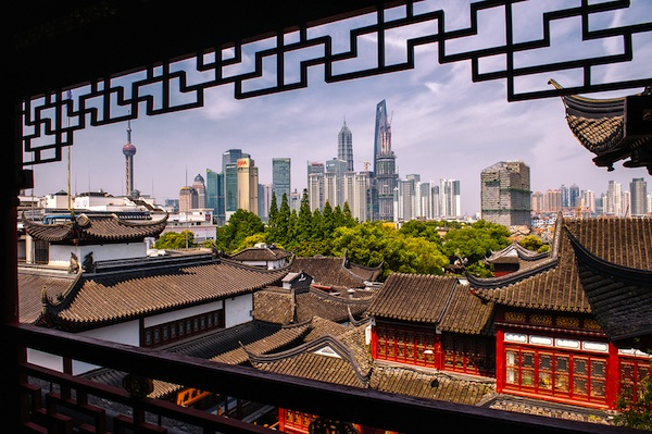 Old and Modern Shanghai China