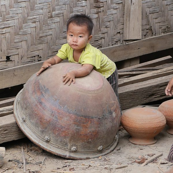 Burmese Kid inside a Pottery