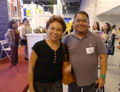 Melo Villareal with Susan Calo Medina