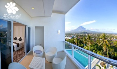 Suite Room facing Mayon Volcano (photo courtesy of Oriental Hotel Legaspi