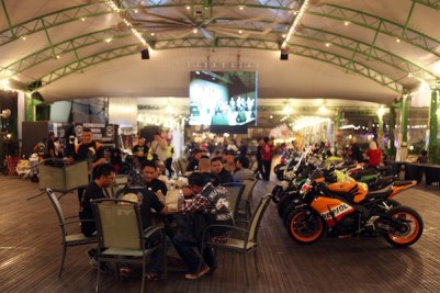 Bikers at the Concert Area