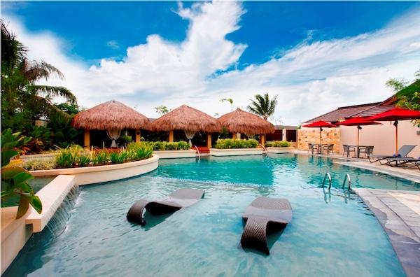 Crimson Yoga pavillion and spa pool with thai cabbanas