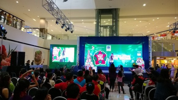 Morisette Amon performing for Jollibee Maaga ang Pasko Mindanao Launch