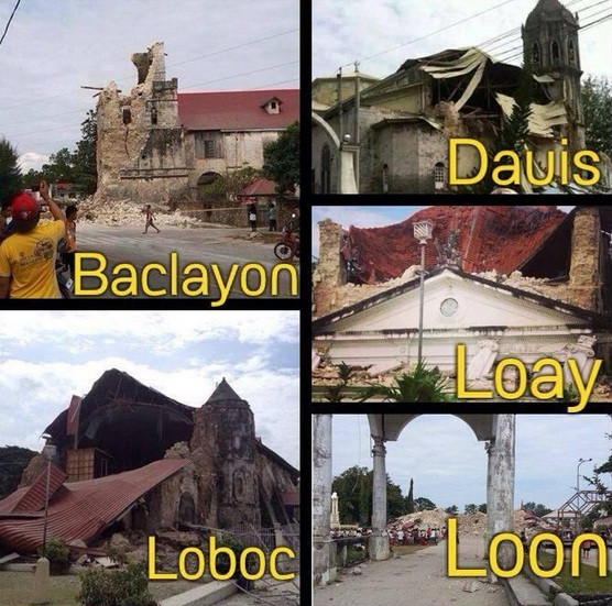 Various Bohol Churches Photos after the Earthquake by @Amirkimpoy Twitpic