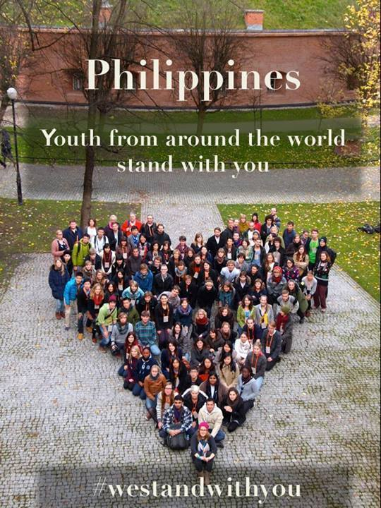 Philippines : Youth from around the world stand with you