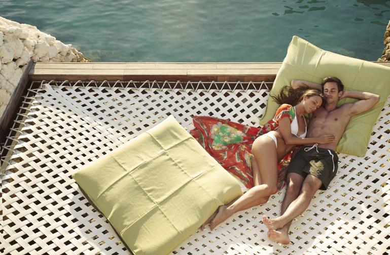 Sunbathing at Ibiza Bar