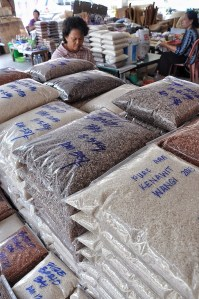 Organic Rice sold at Tamu Khas