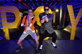 Sinjin Pineda dancing with Psy