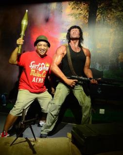 Titus Balatibat goes wild with Rambo