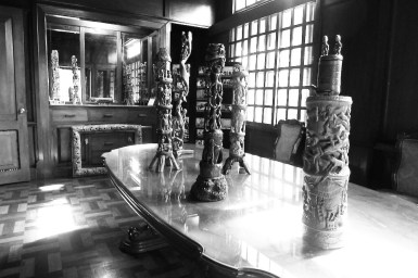 Bamboo Wood Carvings Exhibit