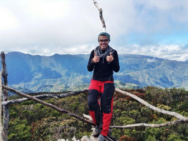 Mc Pol Cruz in Mt. Tabayoc in Benguet