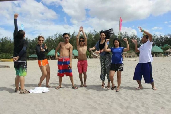 CA de Ramos and her friends in Zambales