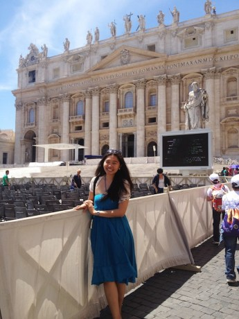 Catherine Iblan in St. Peter's Cathedral in Italy