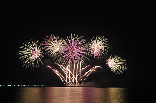 Fireworks from Royal Pyrotechnie of Canada