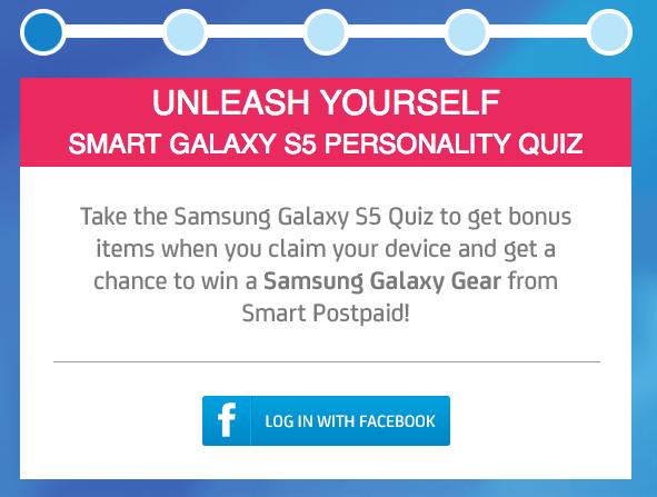 SMART Samsung Galaxy S5 Personality Quiz