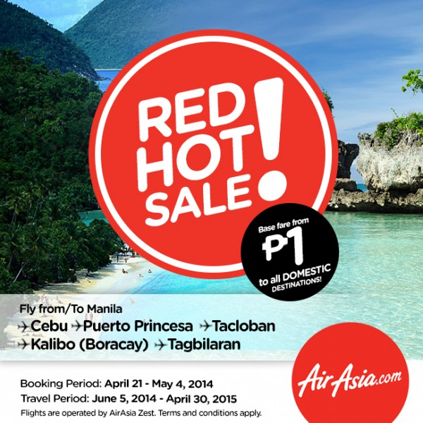 AirAsia Zest Red Hot Piso Sale