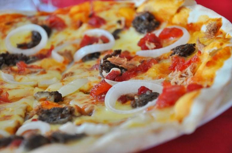 Pizza at Olives Restaurant