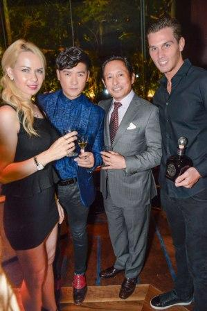 The models with Casa Noble's brand ambassador Tim Yap & MVP Group's Atty. Mike Toledo